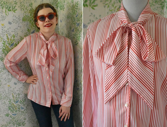 Candy Pink 70s Long Sleeve Blouse