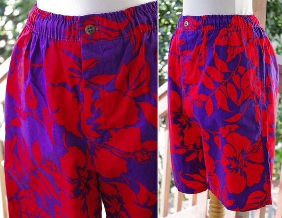 172ab1e706 HAWAIIAN 1980's 90's Vintage Men's Purple Red   Etsy