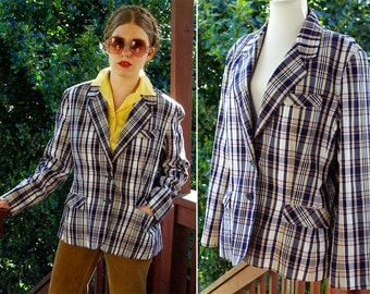 70's Men's Vinyl,Sport Jacket,Size L,