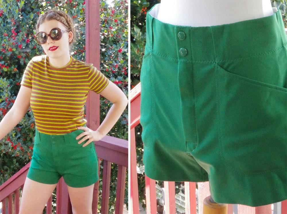 1960s – 70s Men's Ties | Skinny Ties, Slim Ties Sporty 1960s 70s Vintage Mens Solid Deep Green High Waist Poly Knit Shorts  Size Medium 31 32 By Medalist $64.99 AT vintagedancer.com