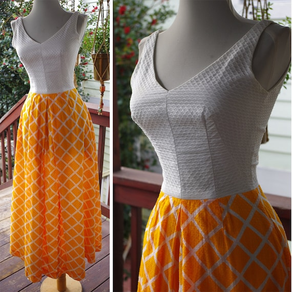 Cream TANGERINE 1960's 70's Vintage Bright Orange