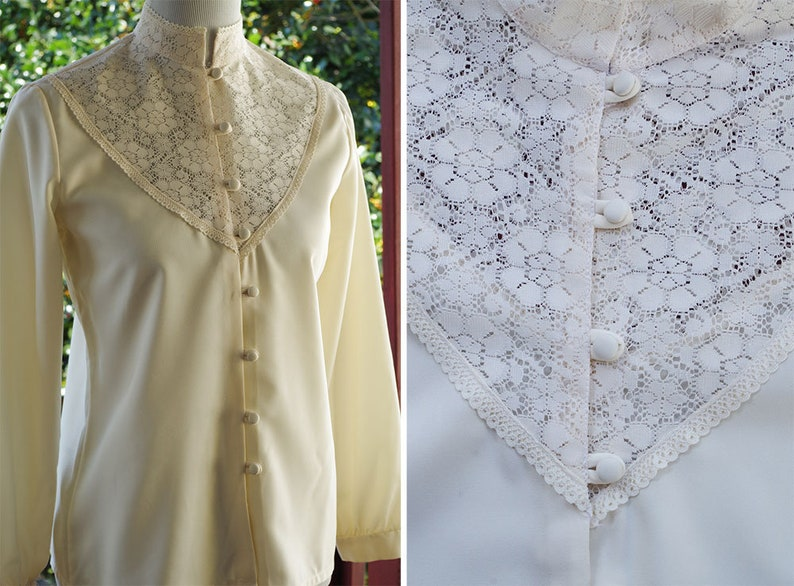 172d18dc6b7a91 LACEY 1960's 70's Vintage Sheer Cream White Lace | Etsy