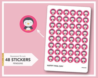 Penguin stickers for planners, diaries and calendars - 48 stickers