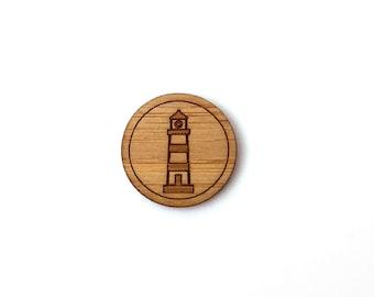 Lighthouse Pin. Sailor Pin. Wood Tie Pin. Wood Lapel Pin. Tie Pin. Lapel Pin. Mens Lapel Pin. Boutonniere. Groomsmen Gift. Nautical