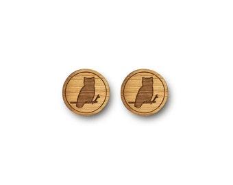 Owl Earrings. Mini Owl Earrings. Wood Earrings. Boho Earrings. Laser Cut Earrings. Bamboo Earrings. Gifts For Her. Stocking Stuffers. Owl