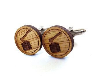 Axe Cufflinks. Ax Cufflinks. Lumberjack Cufflinks. Wood Cufflinks. Groomsmen Gift. Groom Gift. Gift For Men. Mens Gift. Gifts For Dad.