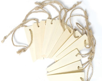Thick Blank Wood Tags With Jute String. Pennant Tag. Gift Tags. Wood Tags. Wood Cards. Wood Gift Tags. Blank Tags. DIY Gift Tags, Set of 12