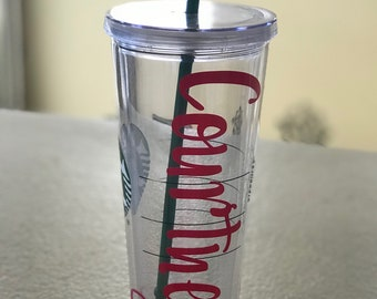 Name Decal for trenta cup, starbucks, starbucks cup, personalized cup