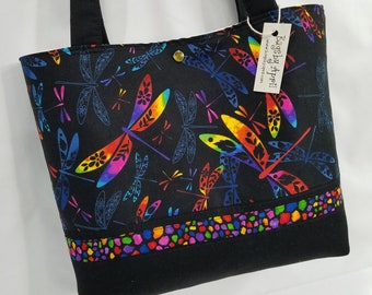 bb9e244942e0 Dragonfly Shoulder Bag Rainbow Dragonflies purse tote handbag LAST ONE