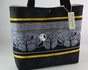 d3425abc10aa26 Wolf Silhouette handbag Owl tote bag Moon purse Black Bat Halloween Goth  Graveyard tote