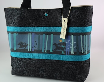 153e410fd5cedf Halloween handbag Sleepy Hallow Spooky tote bag Headless Horseman purse  Goth tote