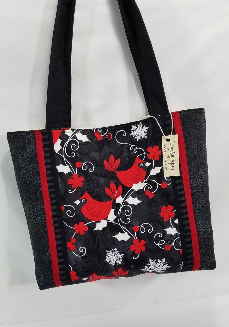 Red Cardinals Shoulder Bag Holly Berry purse tote bag  d9e1d9669ff3c