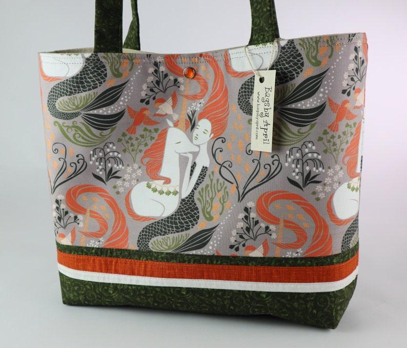 Mermaid Shoulder Bag Purse Unicorn handbag tote Orange