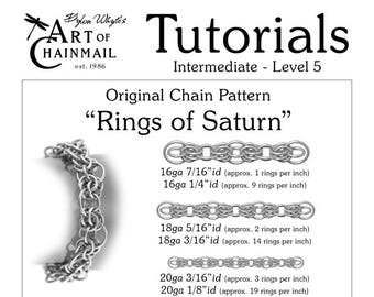 Rings of Saturn/Chainmail/Tutorials/Dylon Whyte/Art of Chain Mail/Chainmaille (Craft Books, How to Books, DIY Crafts, Instructions)