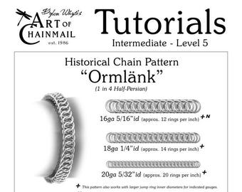 Ormlank/Chainmail/Tutorials/Dylon Whyte/Art of Chain Mail/Chainmaille (Craft Books, How to Books, DIY Crafts, DIY Books, Instructions)