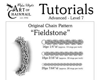 Fieldstone/Chainmail/Tutorials/Dylon Whyte/Art of Chain Mail/Chainmaille (Craft Books, How to Books, DIY Crafts, DIY Books, Instructions)