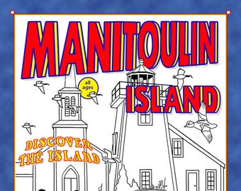 Manitoulin Island Colouring eBook by Whytes (Coloring Books, Coloring Pages, Adult Coloring Books, Adult Coloring Pages, Relaxation Gifts)