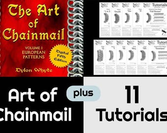 Chainmail/Bundle/Tutorials/Books/Dylon Whyte/The Art of Chain Mail/Chainmaille (Craft Books/How to Books/DIY Crafts/DIY Books/Instructions)