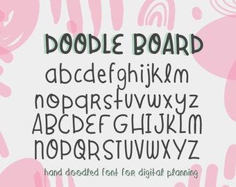 Handwritten Font, Digital Planner Fonts, Digital Planner, Goodnotes Font, Digital Planning, Handwriting Font for Cricut, Doodle Font