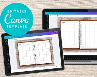 Canva Digital Planner, Planner Template, Editable Canva Planner, Digital Planner Goodnotes, Xodo digital palnner, Undated, Long Vertical