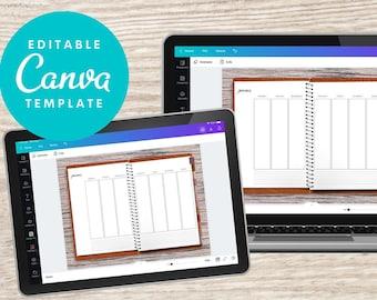 Canva Digital Planner, Planner Template, Editable Canva Planner, Digital Planner Goodnotes, Xodo digital palnner, Undated, Standard Vertical