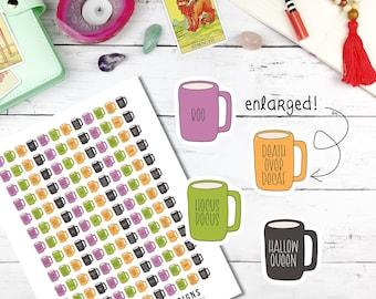 Printable Planner Stickers, Halloween rae dunn, Halloween planner, autumn planner printable, autumn stickers, cricut planner stickers