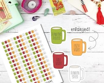 Printable Planner Stickers, fall rae dunn, fall planner, autum planner printable, autum planner stickers, cricut planner stickers