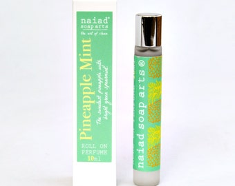 Pineapple Mint Roll on Perfume - vegan friendly scent in coconut oil - 96% natural