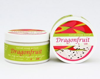 NEW- Dragonfruit Whipped Shea Butter Body Cream - anti-oxidant rich - Vegan and Cruelty Free - 95% natural