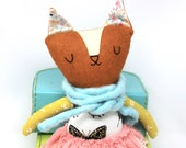 Cat Doll, Fox Doll, Heirloom Doll, High Fashion Doll, Rag Doll, Cloth Doll, Plush Doll, Gift for Kids