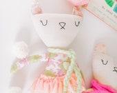 Cat Doll, Heirloom Doll, High Fashion Doll, Rag Doll, Cloth Doll, Plush Doll, Gift for Kids