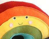 Rainbow Pillow, Rainbow Baby,  Nursery  Decor, Kawaii Rainbow, Rainbow Stuffie