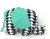 Baby Gift, Stuffed Elephant, Elephant Softie, Handmade Stuffed Toy - Plush Elephant Toy