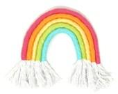 Yarn Rainbow Wall Hanging, Rainbow Wall Decor, Textile Wall Hanging, Fiber Rainbow