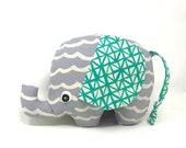 New Baby Gift, Stuffed Elephant, Elephant Softie, Handmade Stuffed Toy - Plush Elephant Toy