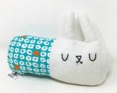 Plush Bunny Toy, Linen Bunny, Stuffed Rabbit, Easter Basket Stuffer