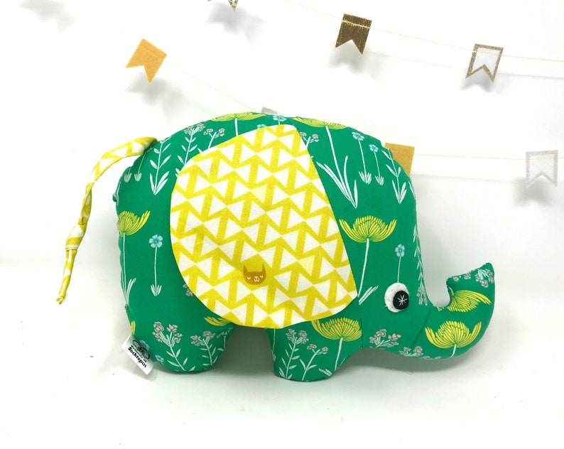 Baby Gift Stuffed Elephant Elephant Softie Handmade Stuffed image 0