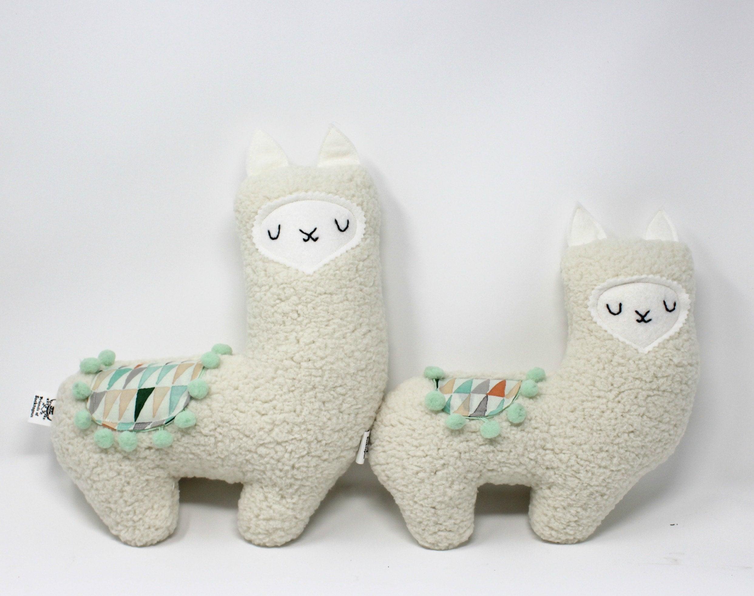 Mama And Baby Llama Plush Stuffed Llama Plush Llama Llama Etsy