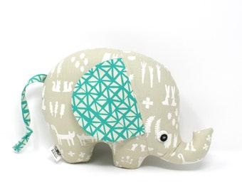 Elephant Plush, Elephant Softie, Elephant Stuffie, Baby Boy Gift, Stuffed Elephant