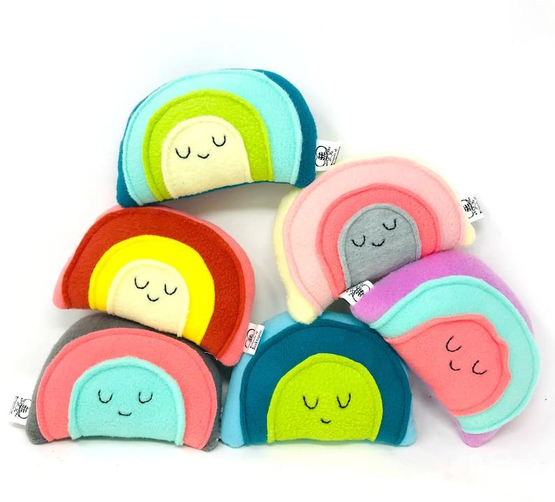 Mini Rainbow Plush Rainbow Toy Unique Gift for Kids image 0