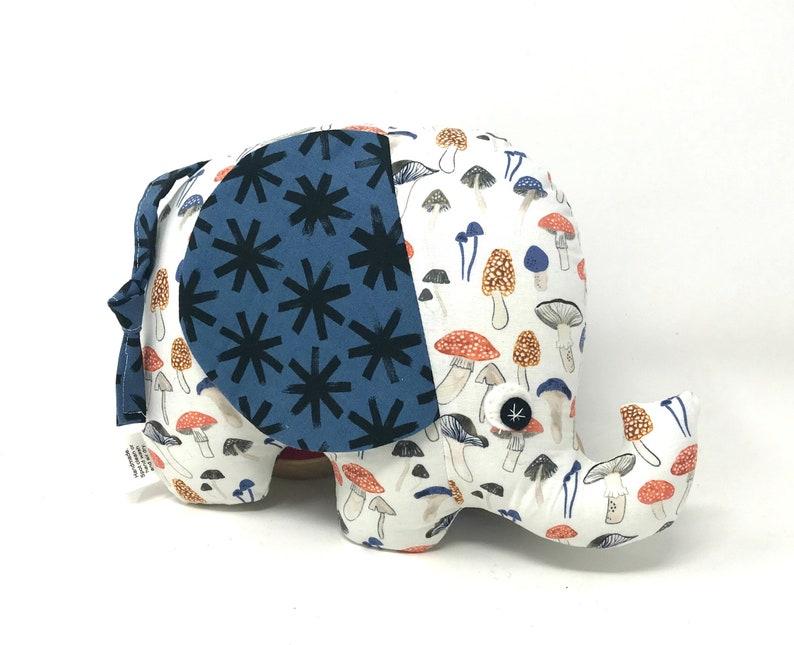 Stuffed Elephant Baby Toy Elephant Softie Handmade Stuffed image 0