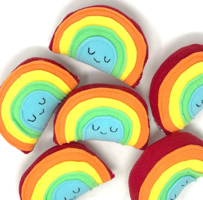 Mini Rainbow Plush Rainbow Toy for Baby Unique Gift for image 0