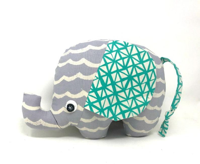 New Baby Gift Stuffed Elephant Elephant Softie Handmade image 0