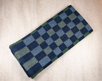 BLUE and GREEN CHECKS 100% Cotton Handwoven Dish Towels