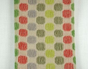 MID-CENTURY MODERN Circles 100% Cotton Handwoven Dish Towels