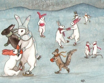 Skating Party- Limited edition fine art print