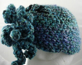 Crocheted Cthulhu Hat in Blues for Infants or Children (small) (SWG-HCTH-S02)