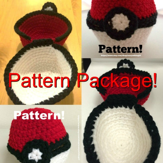 Two Crochet Patterns For Large And Medium Pokemon Inspired Etsy
