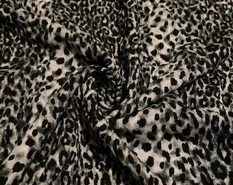 Rayon Gauze Crinkle Fabric Print 3 Yards