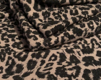 026eb6d94be Soft Brushed Sweater Knit Hacci Fabric Animal Print